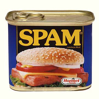 I only like Spam with mustard...I destest spam with my email and comments.
